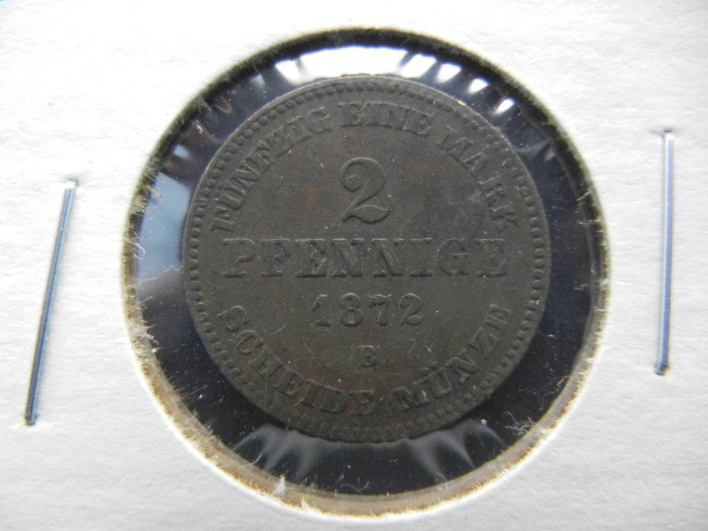 1872 Germany 2 Pfennig.