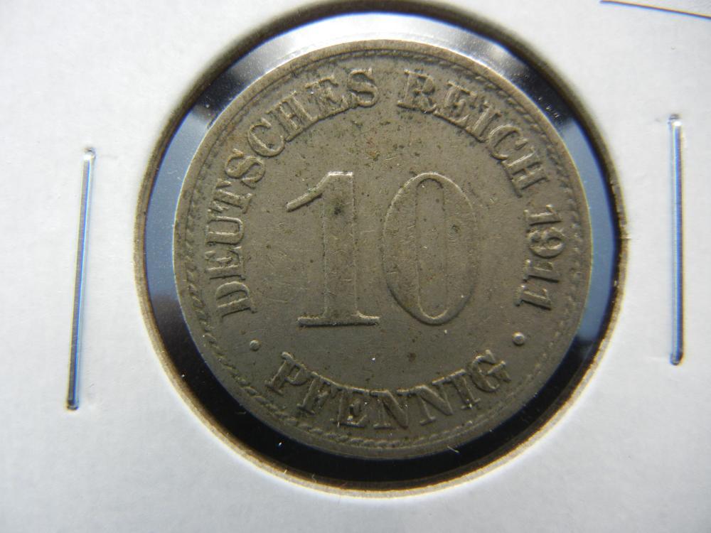 1911-A Germany 10 Pfennig.