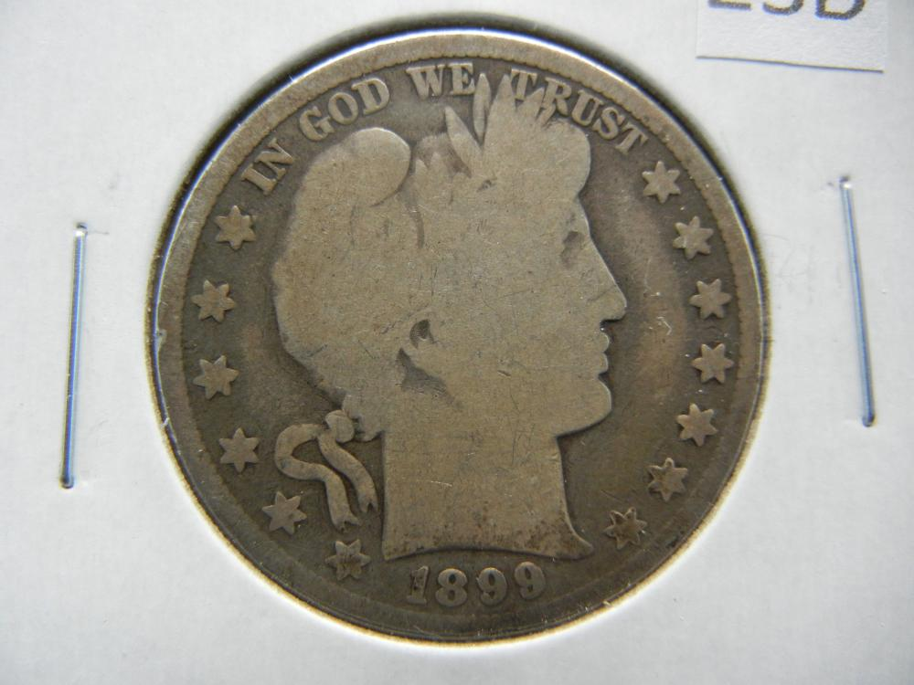 1899 Barber Half Dollar .
