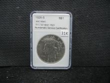 1926 S Peace Silver Dollar NSC MP65 (This is not NGC)