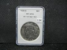 1928 S Peace Silver Dollar NPC MP65 (This is not NGC)