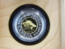 2000 Canada $2 Toonie. Silver Proof. Extremely LOW Mintage. In government box.