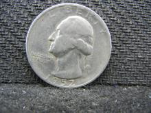 1952-S Washington Quarter, (Only 13.7 Mill Minted), 90% Silver!