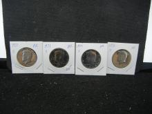 1971, 72, 73, 77 all S Proof Kennedy ½ Dollars.