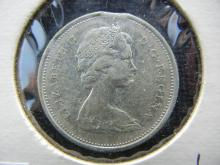 1965 Canadian Quarter w/Die Clip - 80% Silver