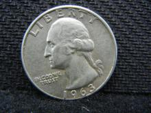 1963-D Washington Quarter, 90% Silver!