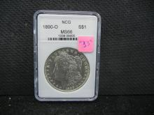 1890-O Morgan Silver Dollar, MS66 NCG, (Check Your Book On This One), ONLY 10.7 Mill Minted, NOT NGC!  Beautiful Coin, Rare At This Grade!