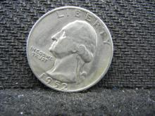 1952-S Washington Quarter, (Only 13.7 Mill Minted) 90% Silver!