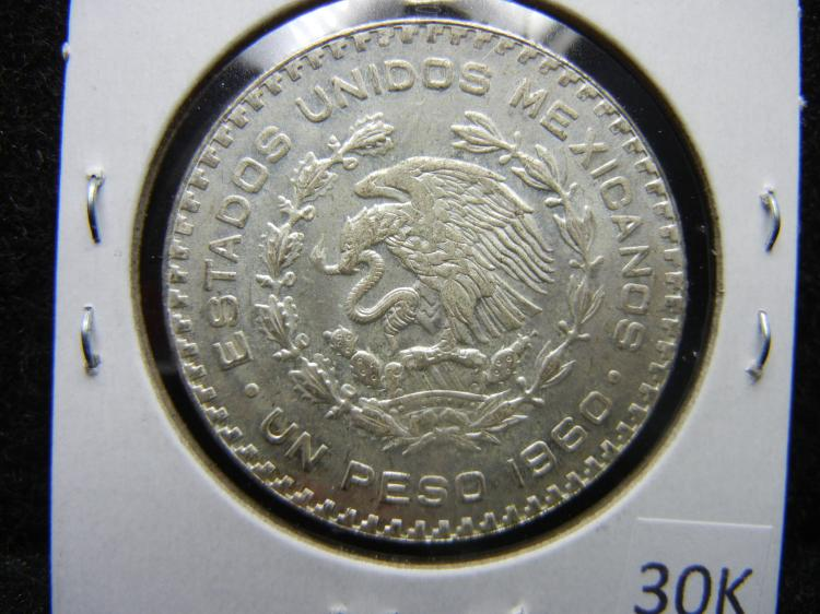 Mexican Silver Peso Coins FREE SHIPPING Lot of FIVE COINS