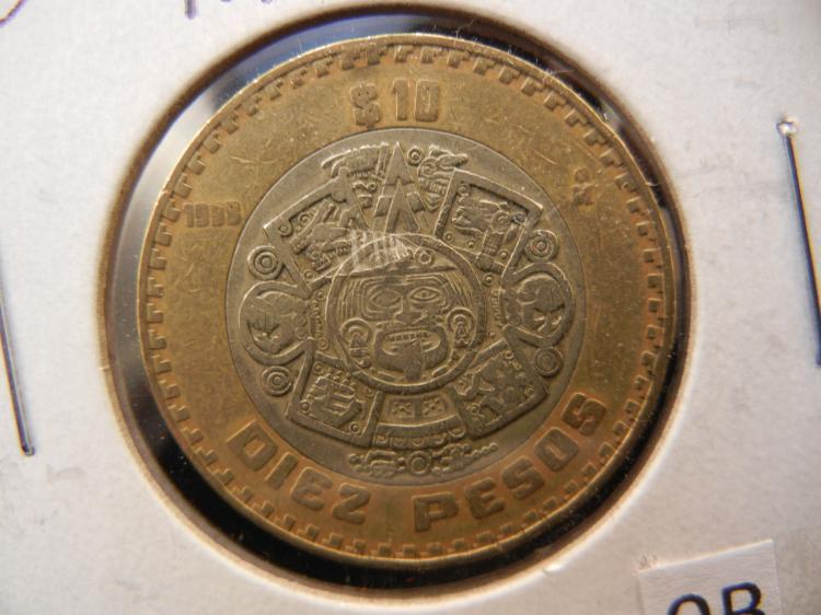 1998 diez pesos coin value