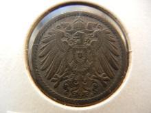1908-A Copper Nickel Germany Empire 5 PFG