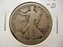 1916-D Walking Liberty Half Dollar  Obverse Mint Mark