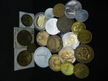 Group of 20, mostly crown sized medals and tokens