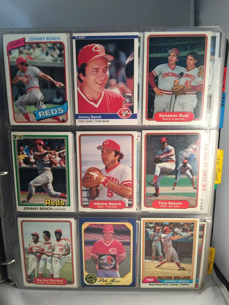 Album With Over 250 1970s 80s Baseball Cards Loaded With