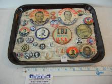 30 Political Pin Backs some Vintage