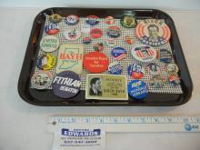 31 Political Pin Backs some Vintage