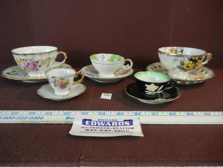 5 Sets of Tea Cups and Saucers Made in Occupied Japan, Japan