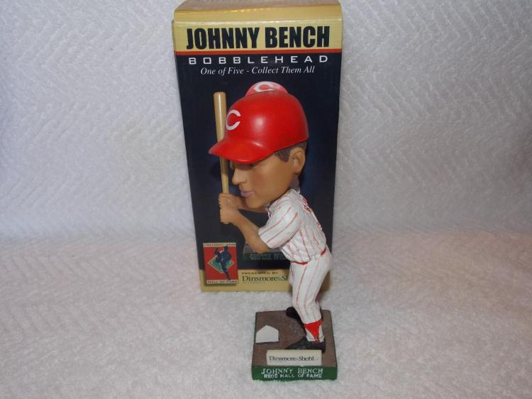 Johnny Bench Bobblehead Lot Of 2 Different Both Have Been