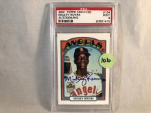 2001 Topps Archives Mickey Rivers Certified Autograph Card