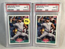 Lot of 2 1989 Score Traded Nolan Ryan #2T - Both Graded PSA 10 Gem Mint