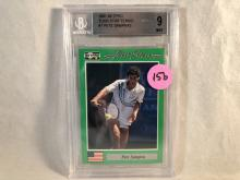 1991 Netpro Tour Star Tennis Pete Sampras #7 BGS 9