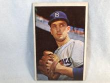 1953 Bowman Color Carl Erskine #12