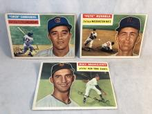 Lot of 3 1956 Topps Baseball Cards- Chico Carrasquel, Pete Runnels, Ray Monzant