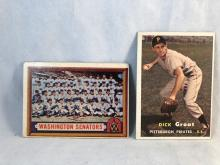 1957 Topps Washington Senators Team Card #270 & Dick Groat #12