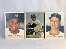 1957 Topps Baseball Hank Thompson, Andre Rodgers, Don Mueller