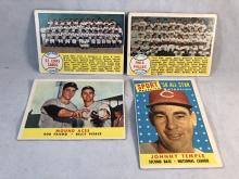 1958 Topps Baseball St. Louis Cards & Philadelphia Phillies Team Cards, Mound Aces, Johnny Temple
