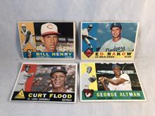 1960 Topps Bill Henry, Ed Rakow (High Numbers), Curt Flood, George Altman