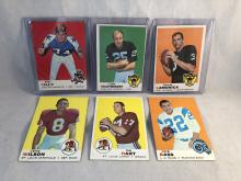 1969 Topps Lot of 6 - Bob Lilly, Fred Biletnikoff, Daryle Lamonica
