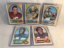 1970 Topps Football Lot of 5 - Len Dawson, Ray Nitschke, Don Maynard, Paul Warfield, Leroy Kelly