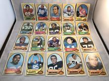 1970 Topps Football Lot of 20 - Varying Conditions