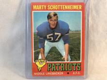 1971 Topps Marty Schottenheimer #3 Rookie Card