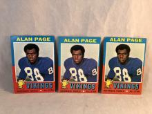 1971 Topps Alan Page #71 Lot of 3
