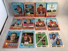 1971 Topps Football Lot of 12 - With 2 Game Cards