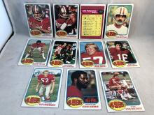 Lot of 1976 Topps San Francisco 49ers Cards - Steve Spurrier