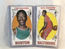 1969-70 Topps Tom Sanders #72 & Gus Johnson #12