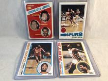 Lot of 1970's Topps Basketball Cards - Scoring Leaders with Lew Alcindor & Havlicek, George Gervin, Walt Frazier