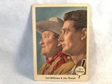 1959 Fleer Ted Williams #70 - Ted & Jim Thorpe - creased