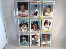 Lot of 9 Nolan Ryan Topps Cards - 1976, 1977, 1977 RB, 1978, 1978 RB, 1979, 1980, 1980 K Leaders, 1981