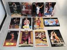 Lot of 12 Basketball Star Cards - Dwyane Wade, Kevin Garnett, Carmelo Anthony, Steve Nash, Allen Iverson