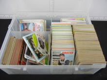 Plastic Case Full of 1970's Baseball/Basketball/Football Cards - Varying Conditions