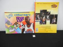 Michael Jordan Lot - Metal Card Set, Space Jam Pop Up Book and 1998 NBA Finals Commemorative Program