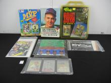 Box Lot of Assorted Sports Cards and Collectibles - Reprint Goudey Cards