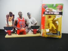 Michael Jordan Cut Out Display and Mark McGwire McPharlane