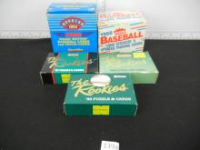 Lot of 5 Baseball Traded and Update Sets - Rookies of Barry Bonds, Bo Jackson, Greg Maddux, Ken Griffey Jr.