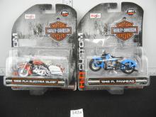 Lot of 2 Maisto Harley Davidson Motorcycles