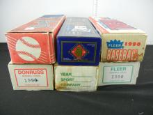 Lot of 6 Boxes of Baseball Cards